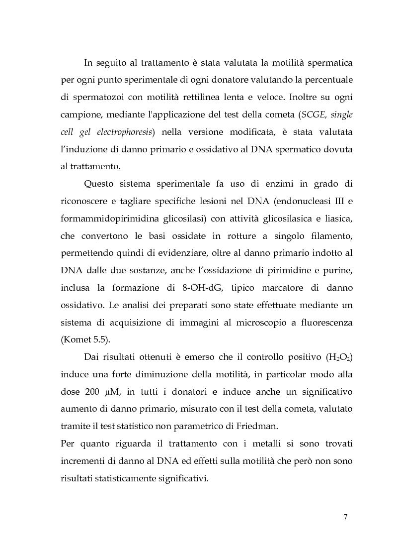 Anteprima della tesi: Endocrine Disruptors: Fertilità maschile e Metalli pesanti, Pagina 3