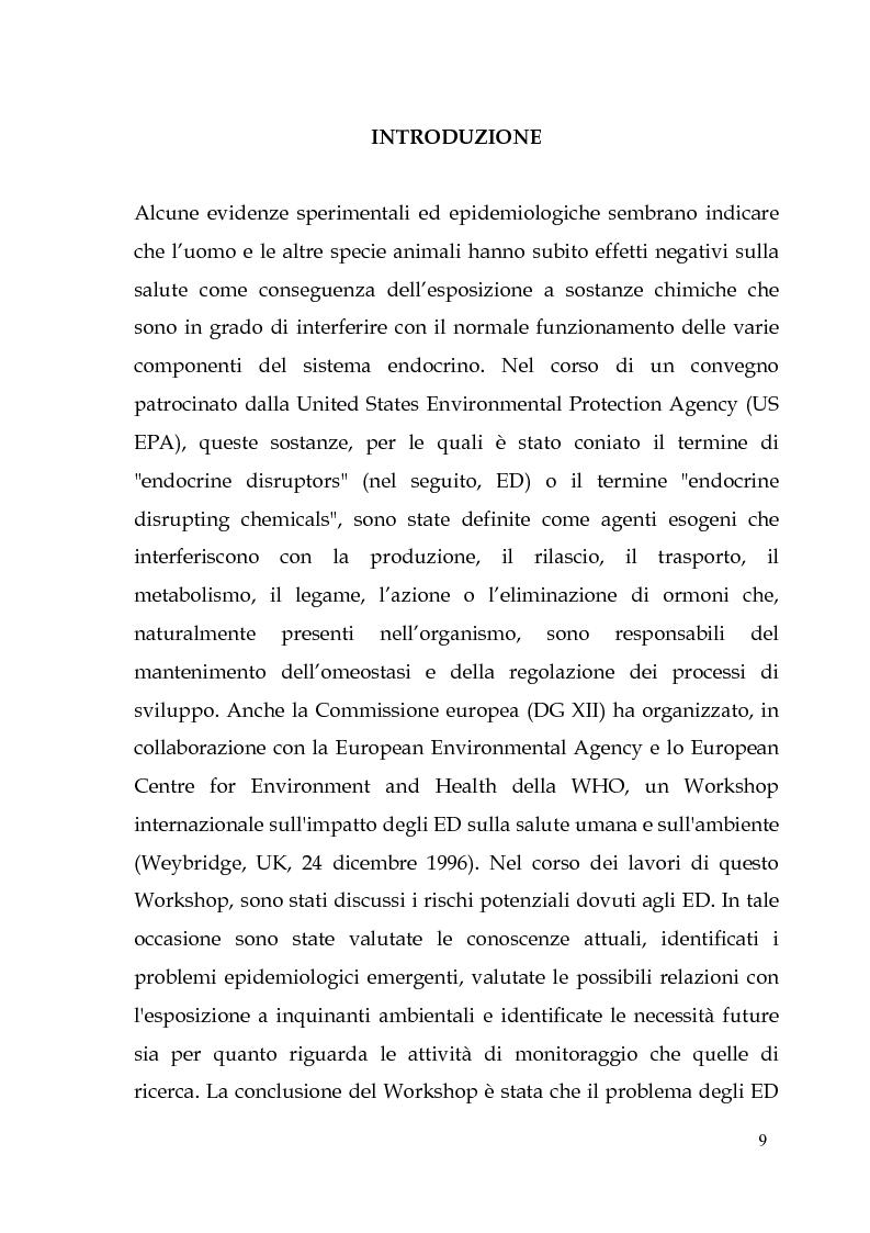 Anteprima della tesi: Endocrine Disruptors: Fertilità maschile e Metalli pesanti, Pagina 5