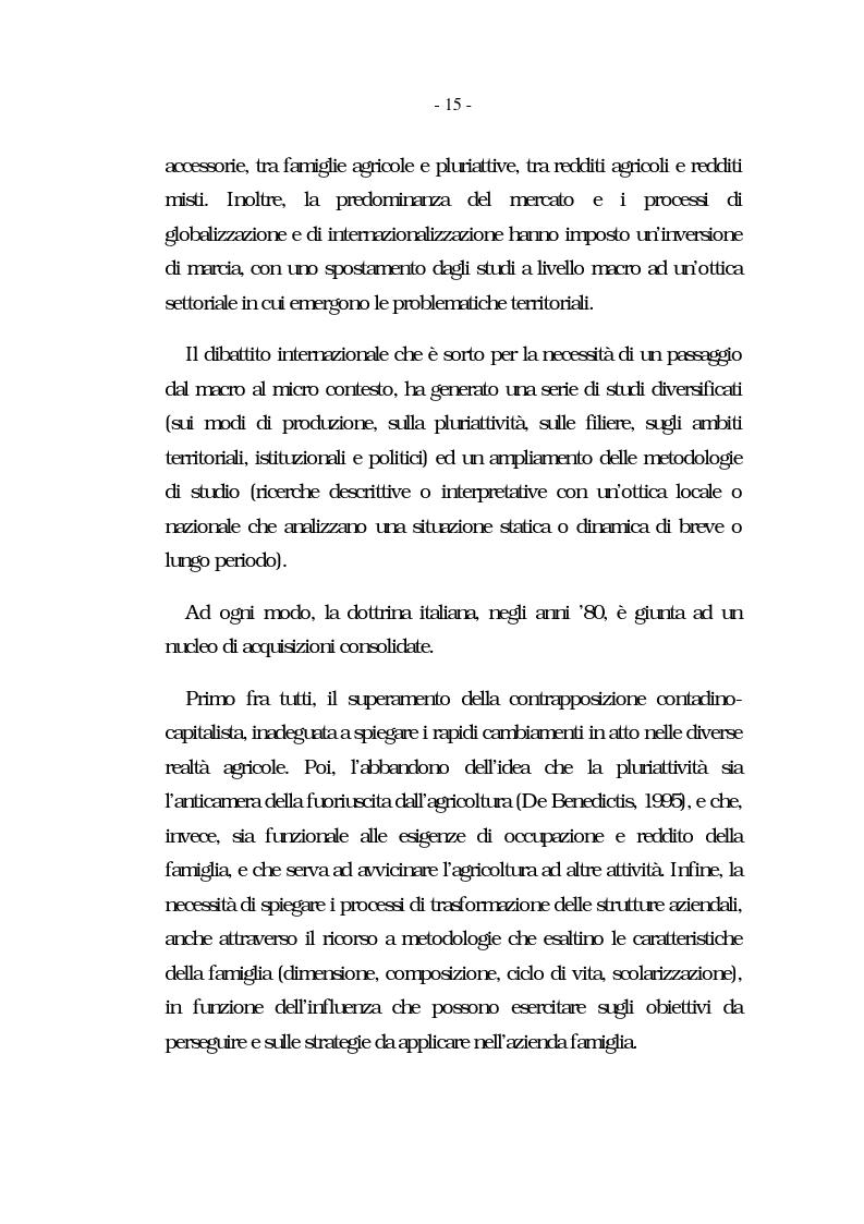 Anteprima della tesi: Nati per essere agricoltori? Aspettative in cambiamento nelle famiglie agricole ennesi, Pagina 12