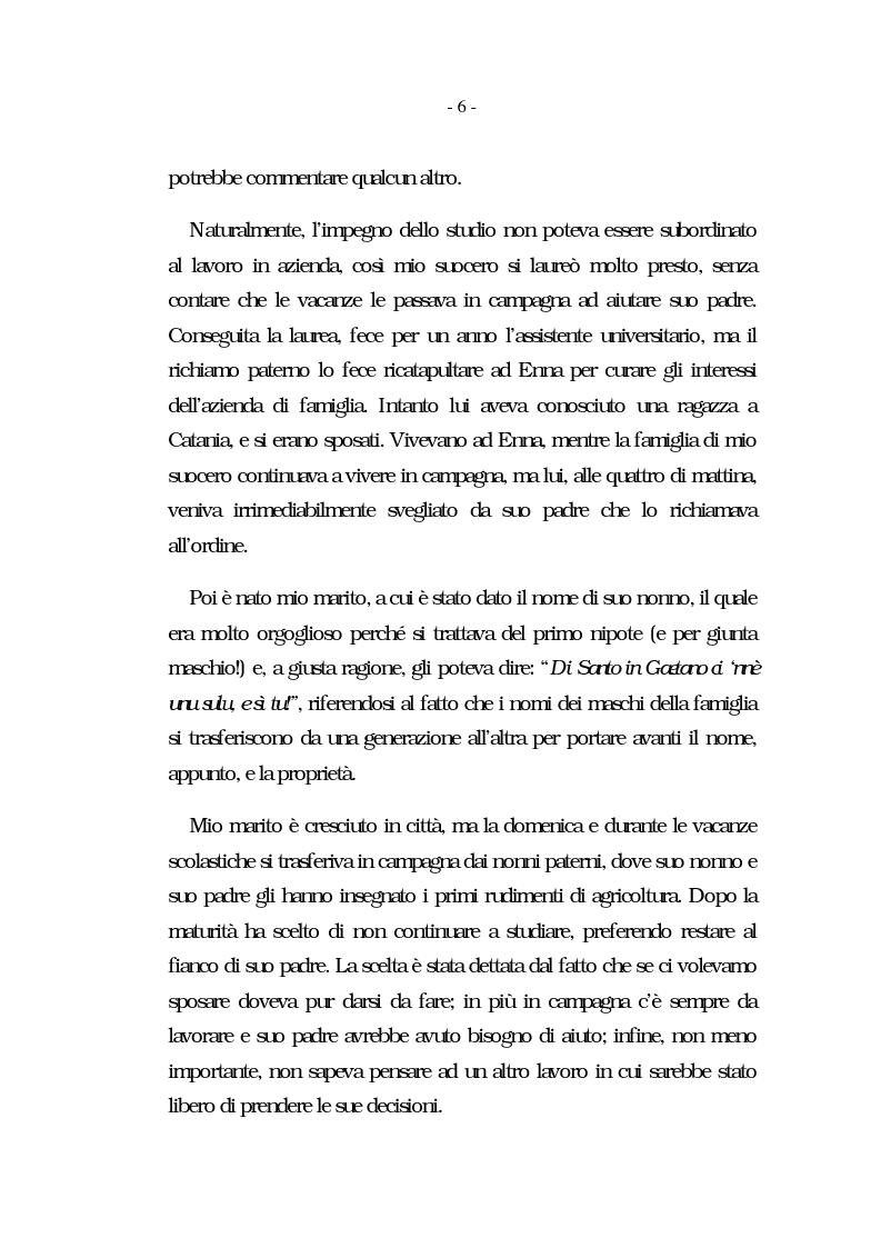 Anteprima della tesi: Nati per essere agricoltori? Aspettative in cambiamento nelle famiglie agricole ennesi, Pagina 3