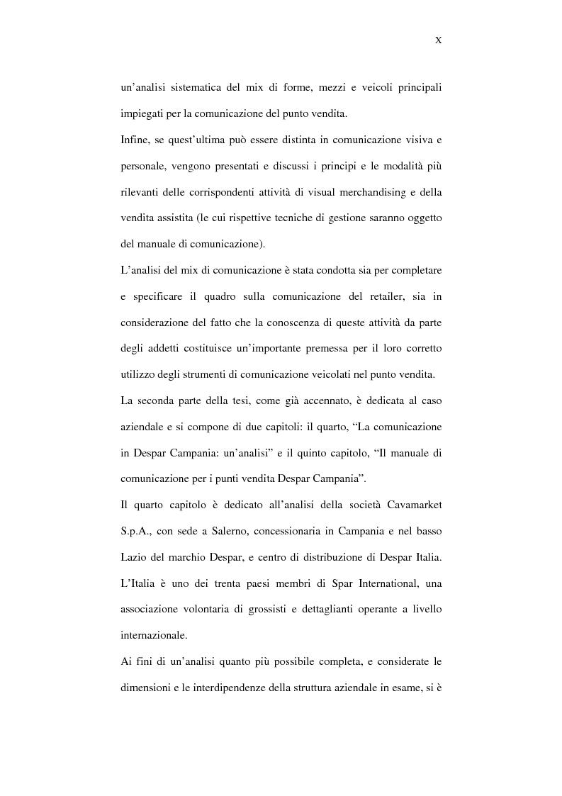 Anteprima della tesi: Il ruolo della comunicazione nelle aziende della distribuzione organizzata. Un manuale operativo per gli addetti alle filiali di vendita Despar in Campania., Pagina 10