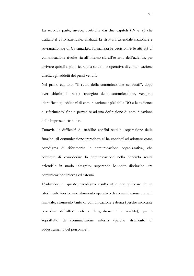 Anteprima della tesi: Il ruolo della comunicazione nelle aziende della distribuzione organizzata. Un manuale operativo per gli addetti alle filiali di vendita Despar in Campania., Pagina 7