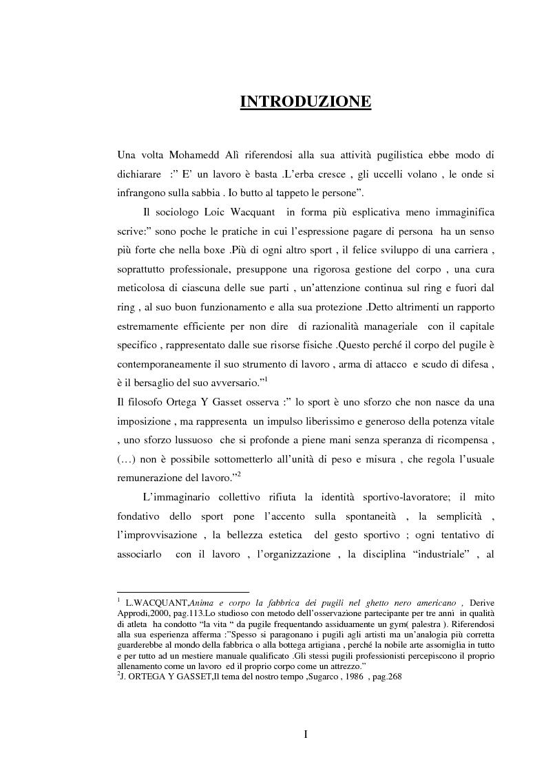 Anteprima della tesi: Il lavoro sportivo, Pagina 1