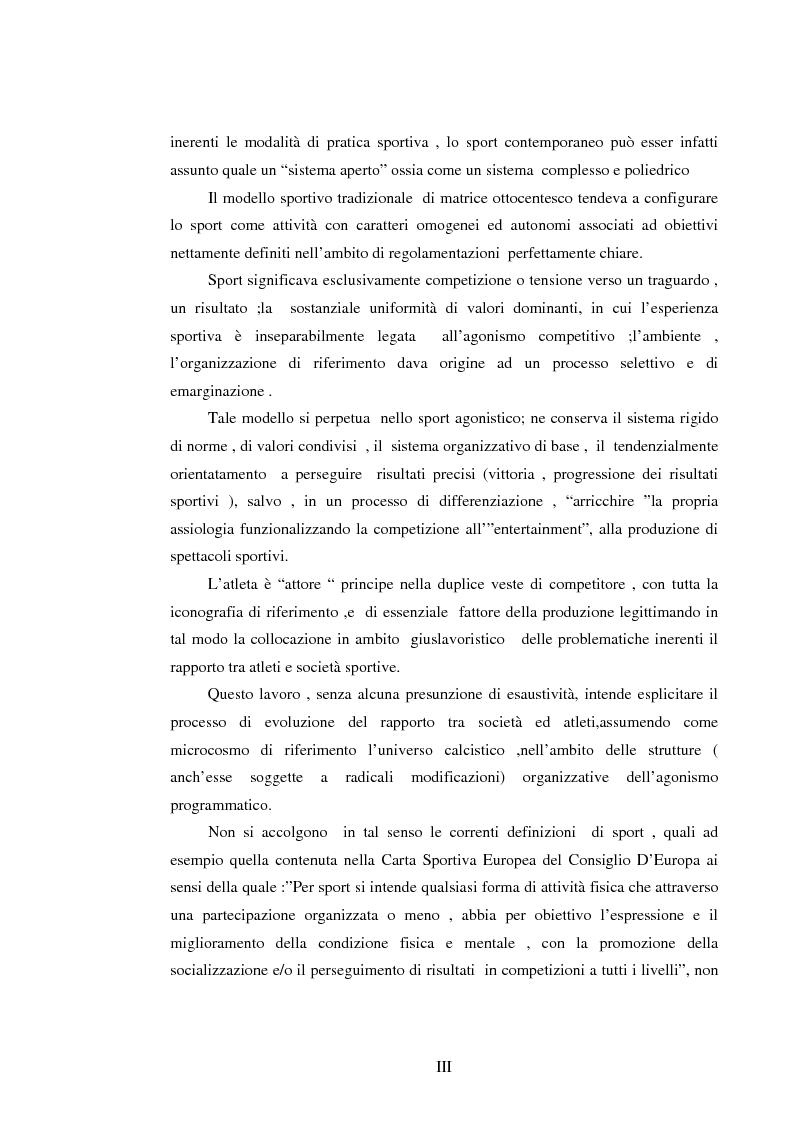 Anteprima della tesi: Il lavoro sportivo, Pagina 3