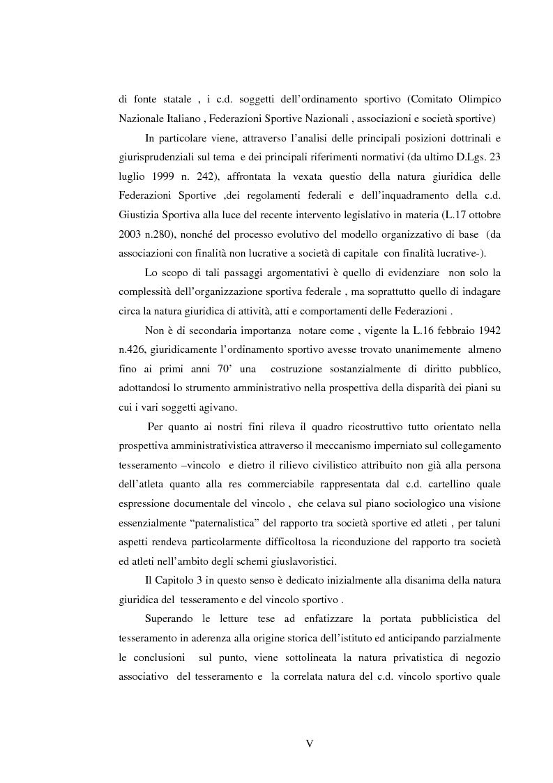 Anteprima della tesi: Il lavoro sportivo, Pagina 5