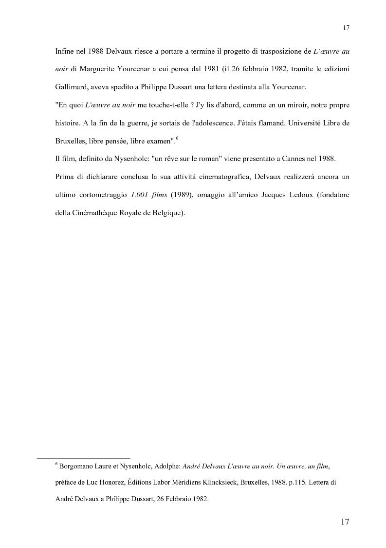 Anteprima della tesi: André Delvaux. Una ricerca sulla forma, Pagina 10