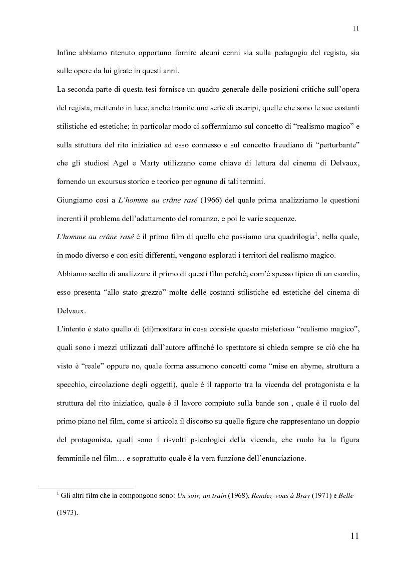 Anteprima della tesi: André Delvaux. Una ricerca sulla forma, Pagina 4