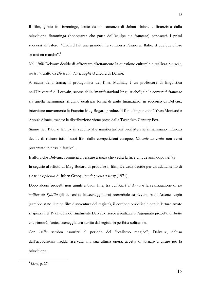 Anteprima della tesi: André Delvaux. Una ricerca sulla forma, Pagina 8