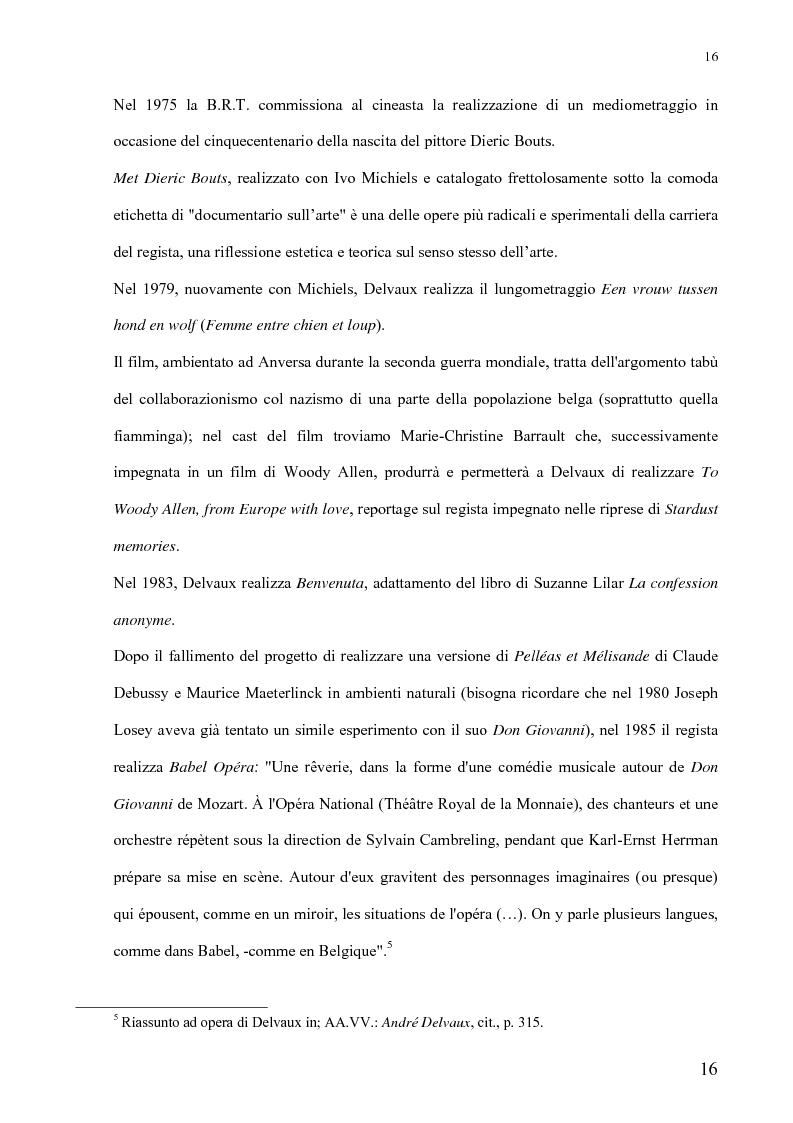 Anteprima della tesi: André Delvaux. Una ricerca sulla forma, Pagina 9