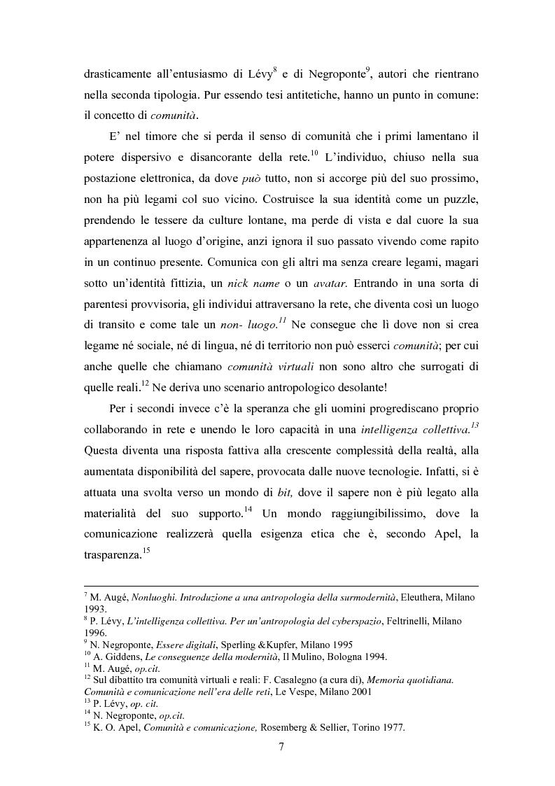 Anteprima della tesi: La società e i nuovi media: il ruolo di intermediazione della Pubblica Amministrazione in rete. Il caso Basilicata, Pagina 2
