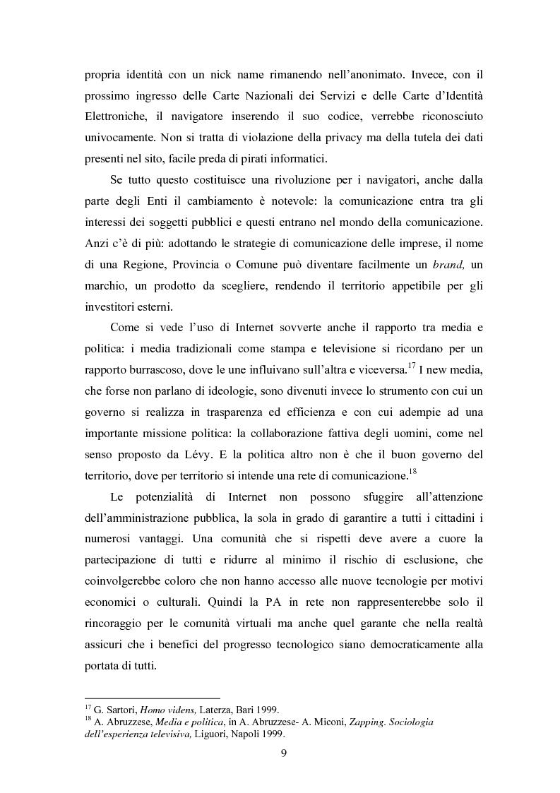 Anteprima della tesi: La società e i nuovi media: il ruolo di intermediazione della Pubblica Amministrazione in rete. Il caso Basilicata, Pagina 4