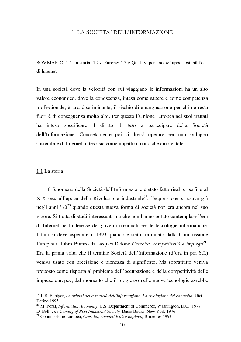 Anteprima della tesi: La società e i nuovi media: il ruolo di intermediazione della Pubblica Amministrazione in rete. Il caso Basilicata, Pagina 5