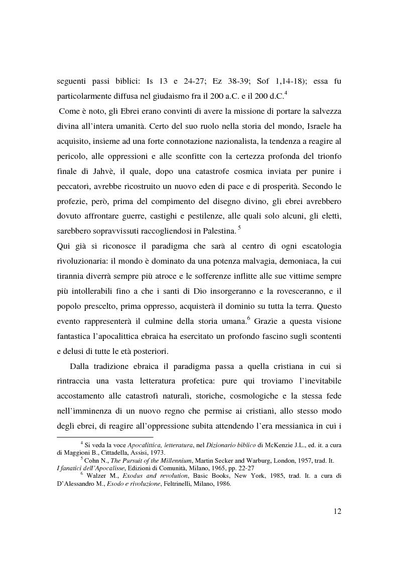 Anteprima della tesi: Apocalisse: senso della fine e mondo globale, Pagina 10