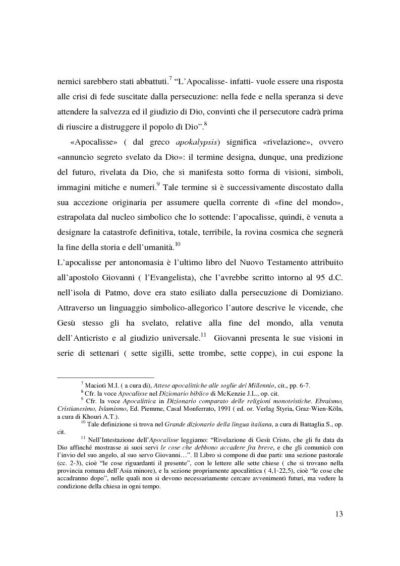 Anteprima della tesi: Apocalisse: senso della fine e mondo globale, Pagina 11