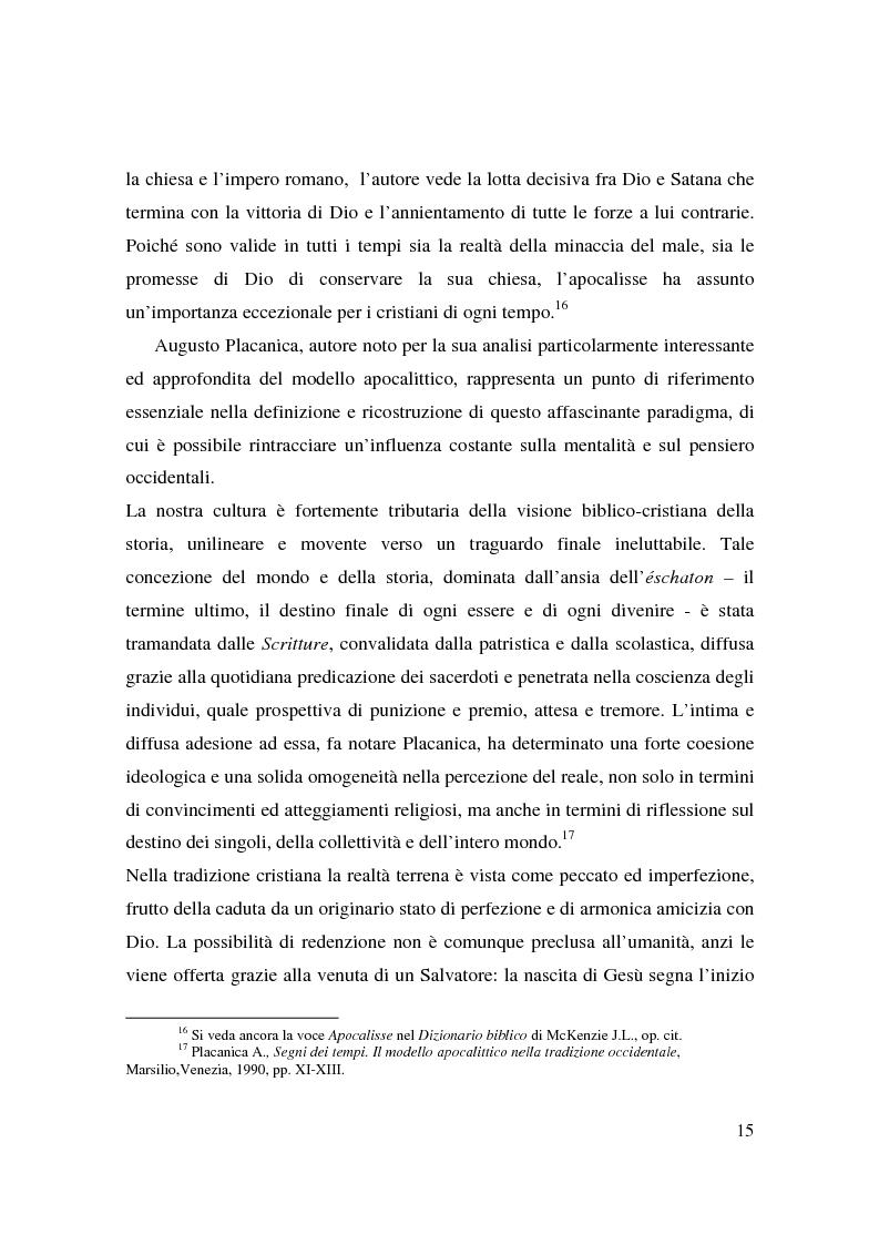 Anteprima della tesi: Apocalisse: senso della fine e mondo globale, Pagina 13
