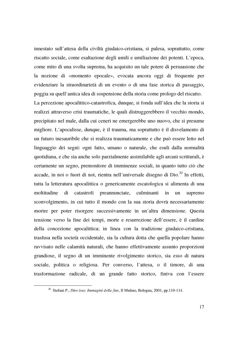 Anteprima della tesi: Apocalisse: senso della fine e mondo globale, Pagina 15
