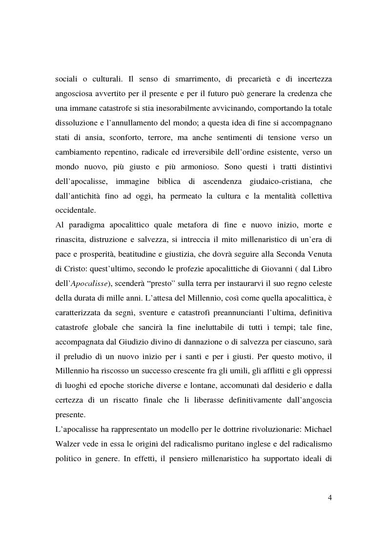 Anteprima della tesi: Apocalisse: senso della fine e mondo globale, Pagina 2