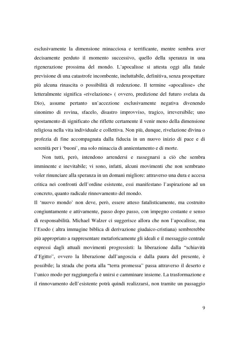 Anteprima della tesi: Apocalisse: senso della fine e mondo globale, Pagina 7