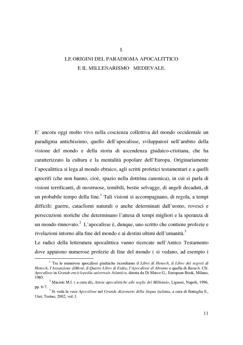 Anteprima della tesi: Apocalisse: senso della fine e mondo globale, Pagina 9