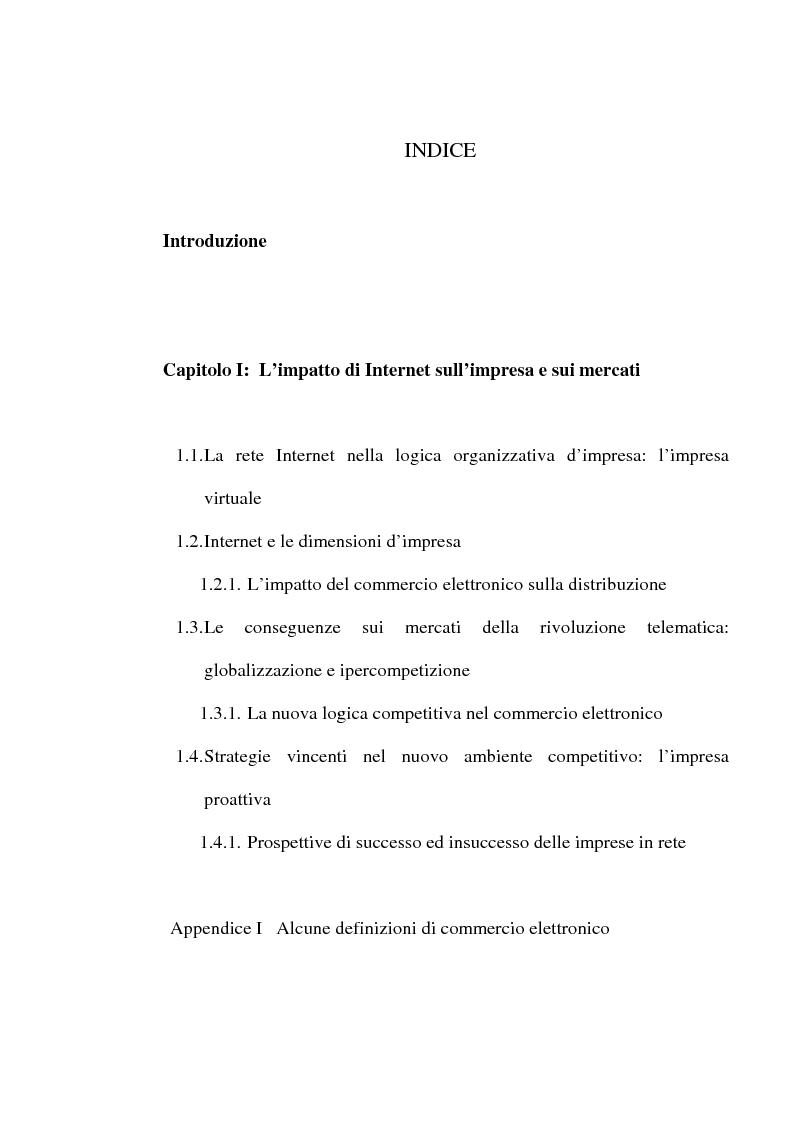 Indice della tesi: Internet e one to one marketing per l'approccio ai mercati internazionali: Net Perceptions, un servizio per la presenza diffusa sulla rete globale, Pagina 1