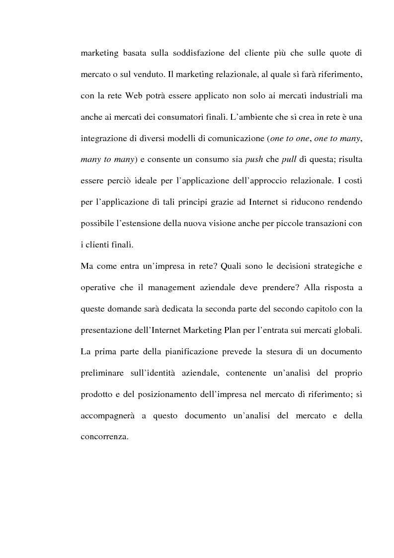 Anteprima della tesi: Internet e one to one marketing per l'approccio ai mercati internazionali: Net Perceptions, un servizio per la presenza diffusa sulla rete globale, Pagina 4