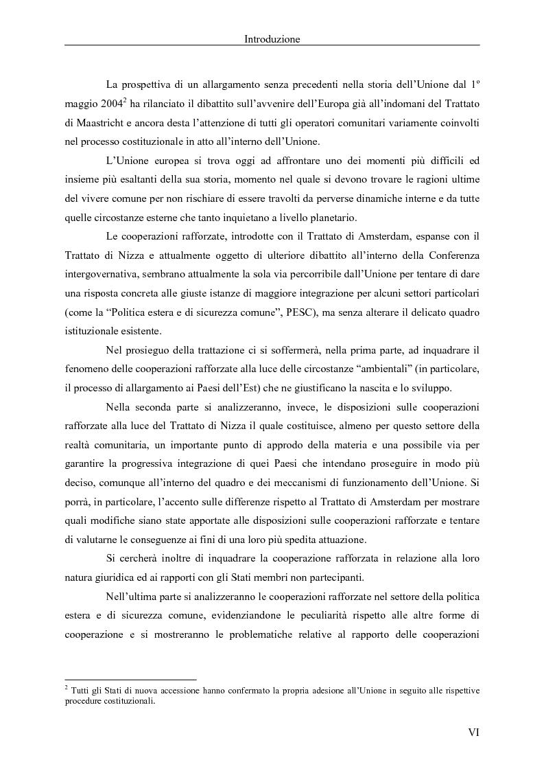 Anteprima della tesi: Le cooperazioni rafforzate dal Trattato di Nizza al Trattato che istituisce una costituzione per l'Europa. La giusta via?, Pagina 2