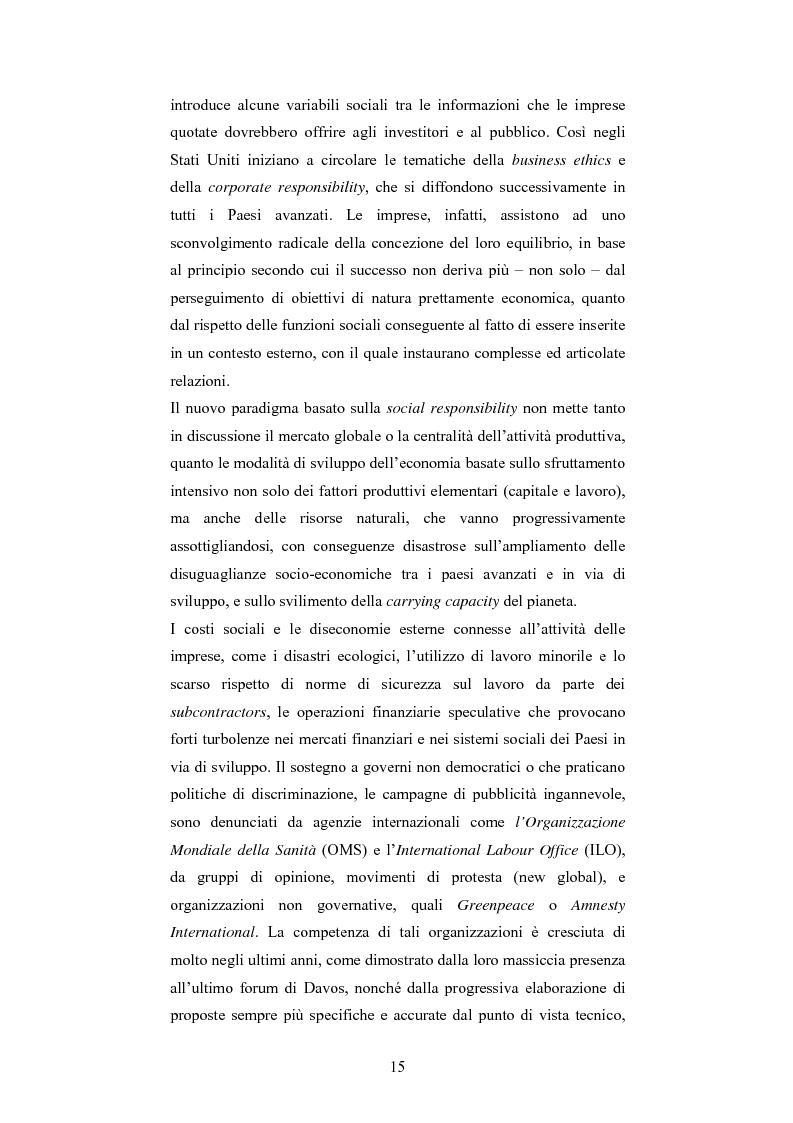 Anteprima della tesi: La responsabilità sociale d'impresa: accountability e modelli di rendicontazione, Pagina 12