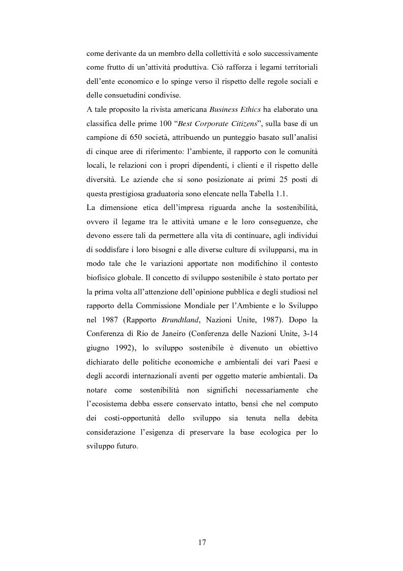 Anteprima della tesi: La responsabilità sociale d'impresa: accountability e modelli di rendicontazione, Pagina 14