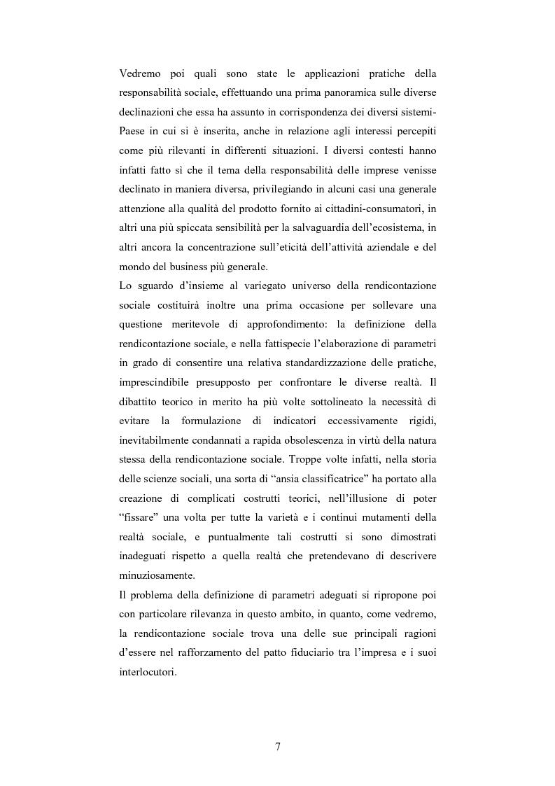 Anteprima della tesi: La responsabilità sociale d'impresa: accountability e modelli di rendicontazione, Pagina 4