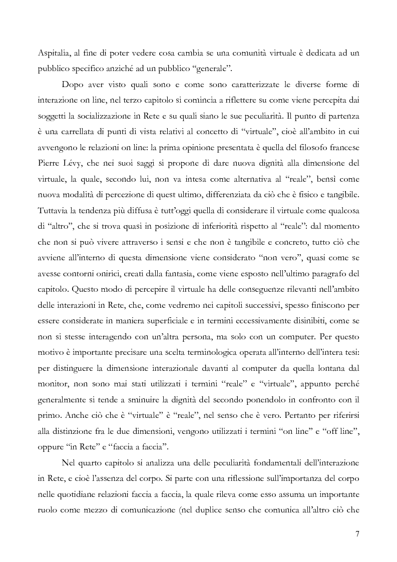 Anteprima della tesi: L'interazione on line ieri, oggi e domani: aspetti tecnologici, sociologici e di business, Pagina 2