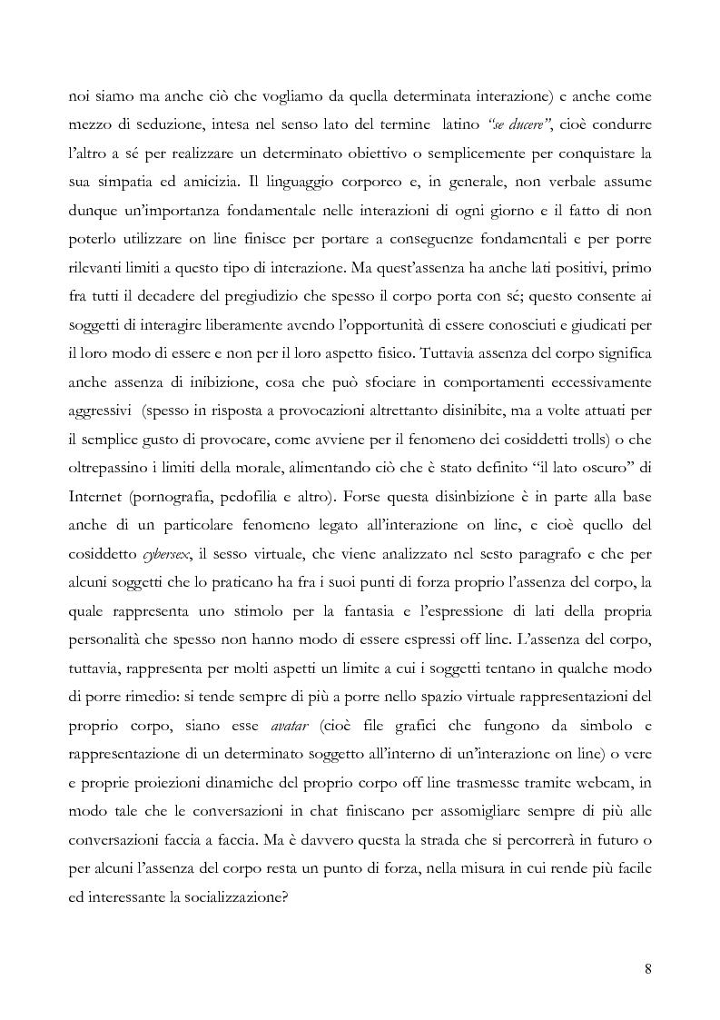 Anteprima della tesi: L'interazione on line ieri, oggi e domani: aspetti tecnologici, sociologici e di business, Pagina 3