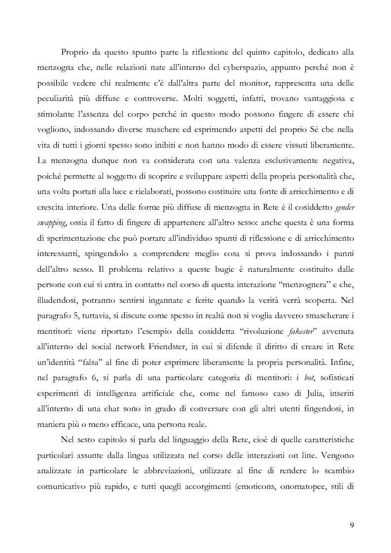 Anteprima della tesi: L'interazione on line ieri, oggi e domani: aspetti tecnologici, sociologici e di business, Pagina 4