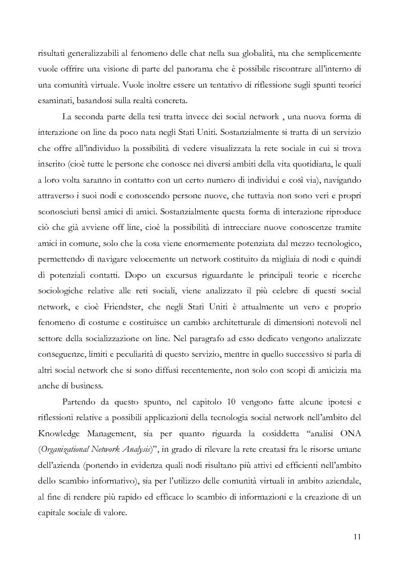 Anteprima della tesi: L'interazione on line ieri, oggi e domani: aspetti tecnologici, sociologici e di business, Pagina 6