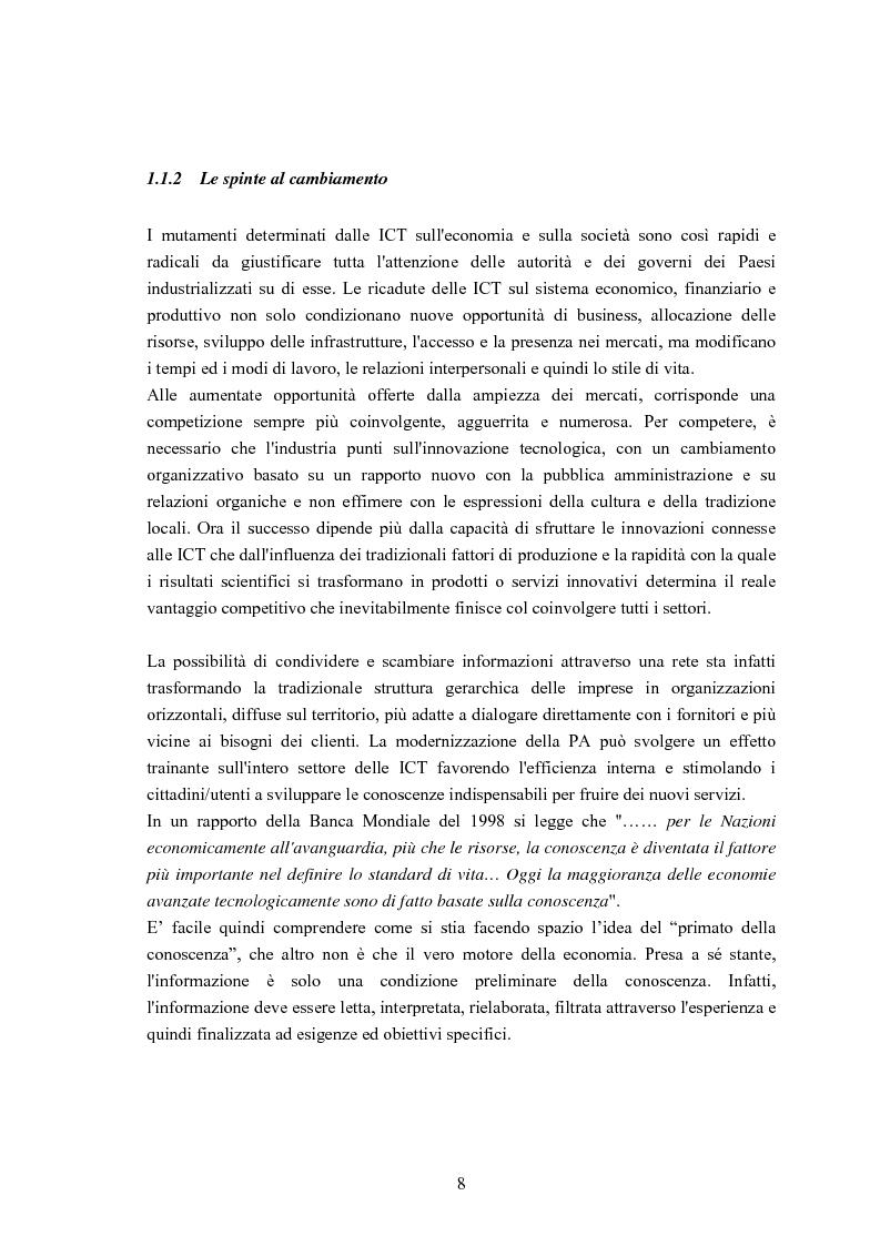 Anteprima della tesi: Un sistema di Knowledge Center per il supporto alle decisioni: un'applicazione rivolta alle Pubbliche Amministrazioni ed alle Piccole e Medie Imprese del Territorio, Pagina 5
