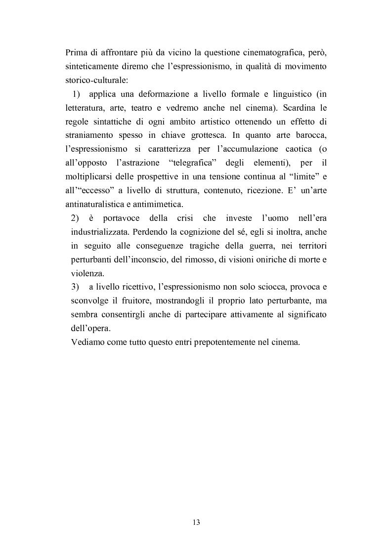 Anteprima della tesi: David Lynch e l'espressionismo postmoderno, Pagina 10