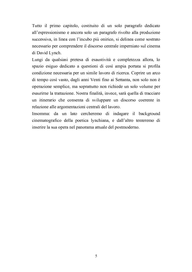 Anteprima della tesi: David Lynch e l'espressionismo postmoderno, Pagina 2