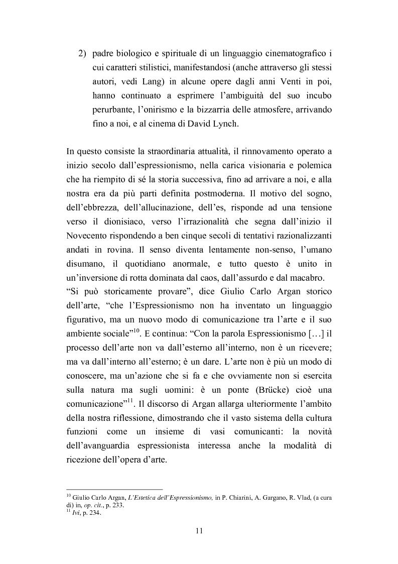 Anteprima della tesi: David Lynch e l'espressionismo postmoderno, Pagina 8