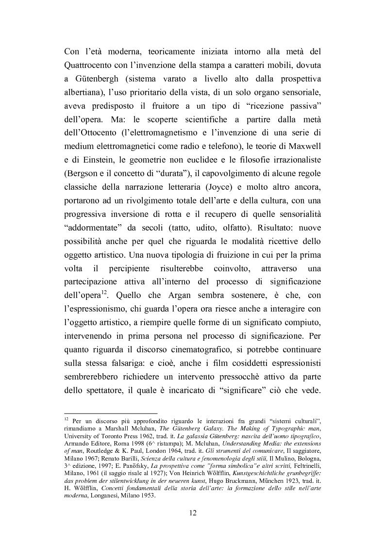 Anteprima della tesi: David Lynch e l'espressionismo postmoderno, Pagina 9