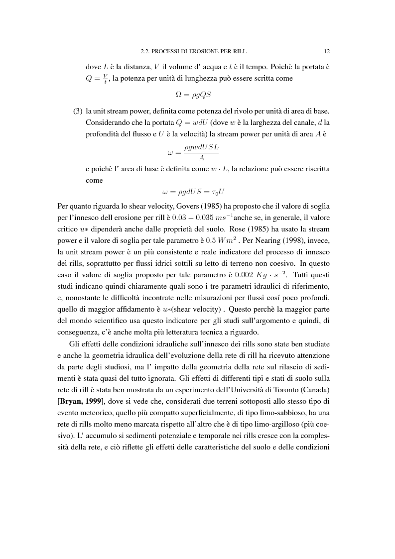 Anteprima della tesi: Analisi e confronti di modelli di erosione del suolo e trasporto di sedimenti tramite l'uso di sistemi GIS, Pagina 8