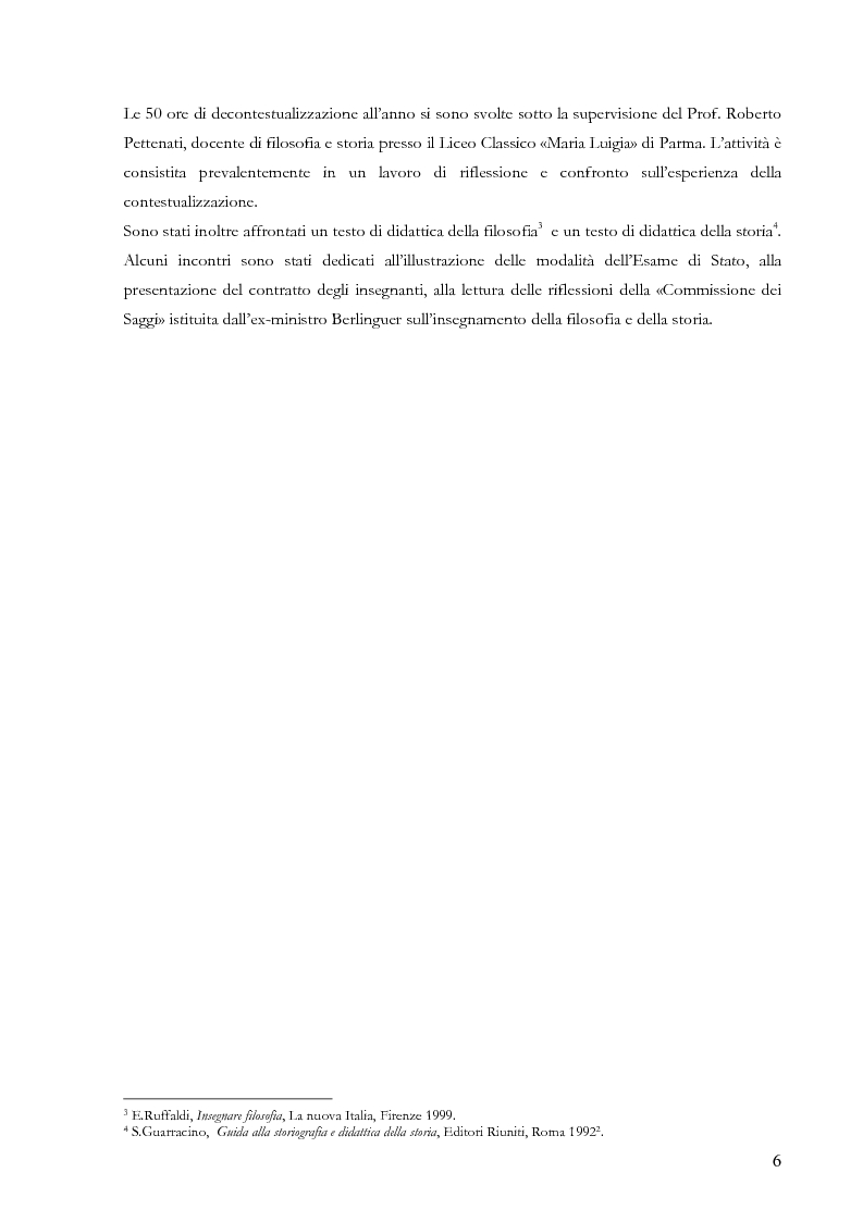 Anteprima della tesi: Proiezioni didattiche sul '900. Contemporaneità della filosofia tra Kant e Nietzsche, Pagina 3
