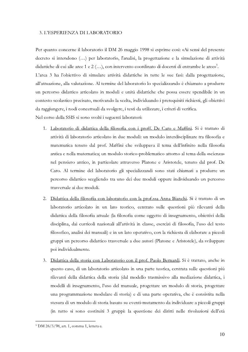 Anteprima della tesi: Proiezioni didattiche sul '900. Contemporaneità della filosofia tra Kant e Nietzsche, Pagina 7