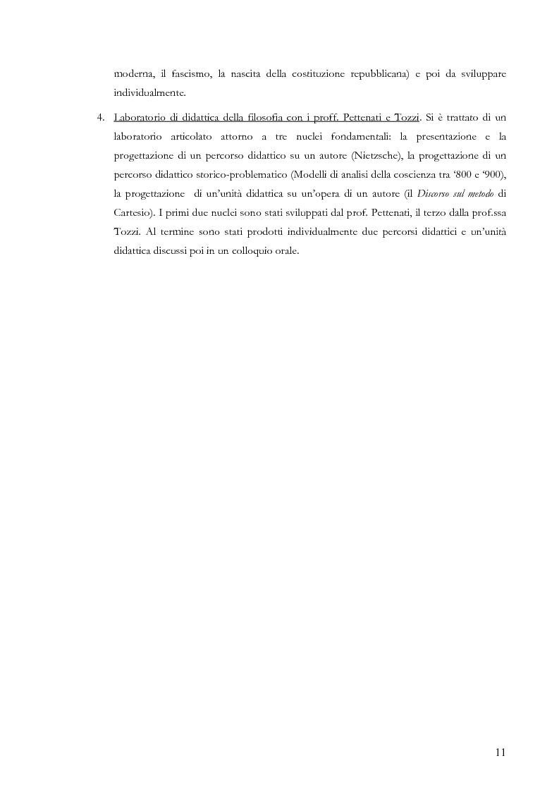 Anteprima della tesi: Proiezioni didattiche sul '900. Contemporaneità della filosofia tra Kant e Nietzsche, Pagina 8
