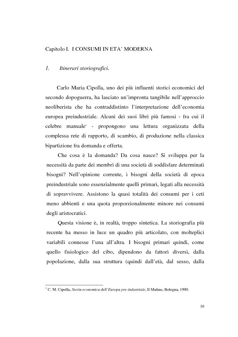 Anteprima della tesi: A tavola e a palazzo: i consumi degli Sforza Cesarini nel Settecento, Pagina 10