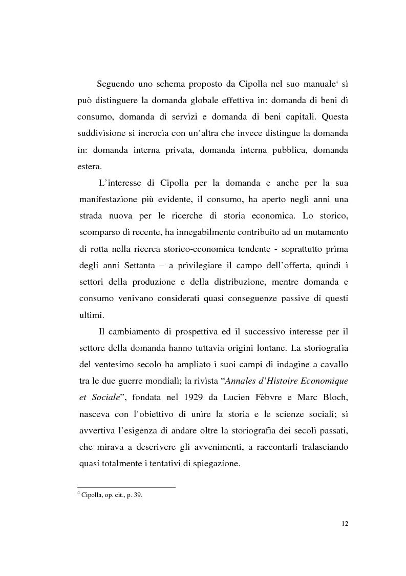 Anteprima della tesi: A tavola e a palazzo: i consumi degli Sforza Cesarini nel Settecento, Pagina 12