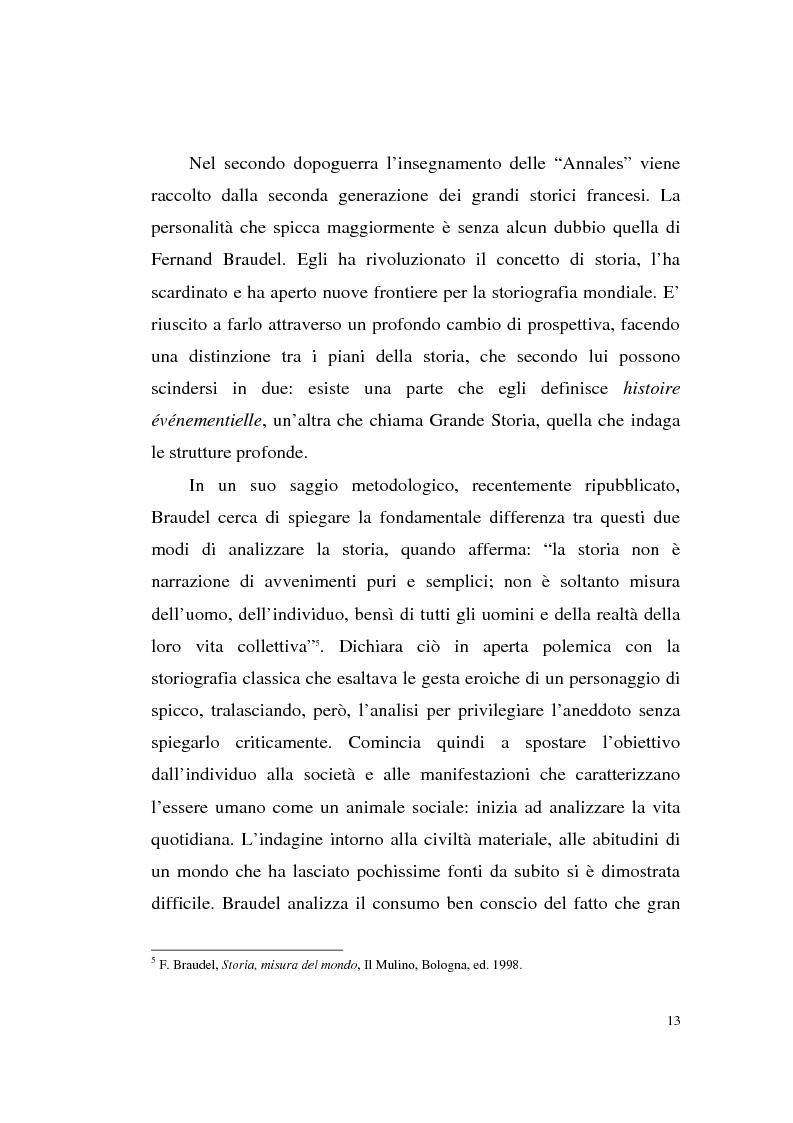 Anteprima della tesi: A tavola e a palazzo: i consumi degli Sforza Cesarini nel Settecento, Pagina 13