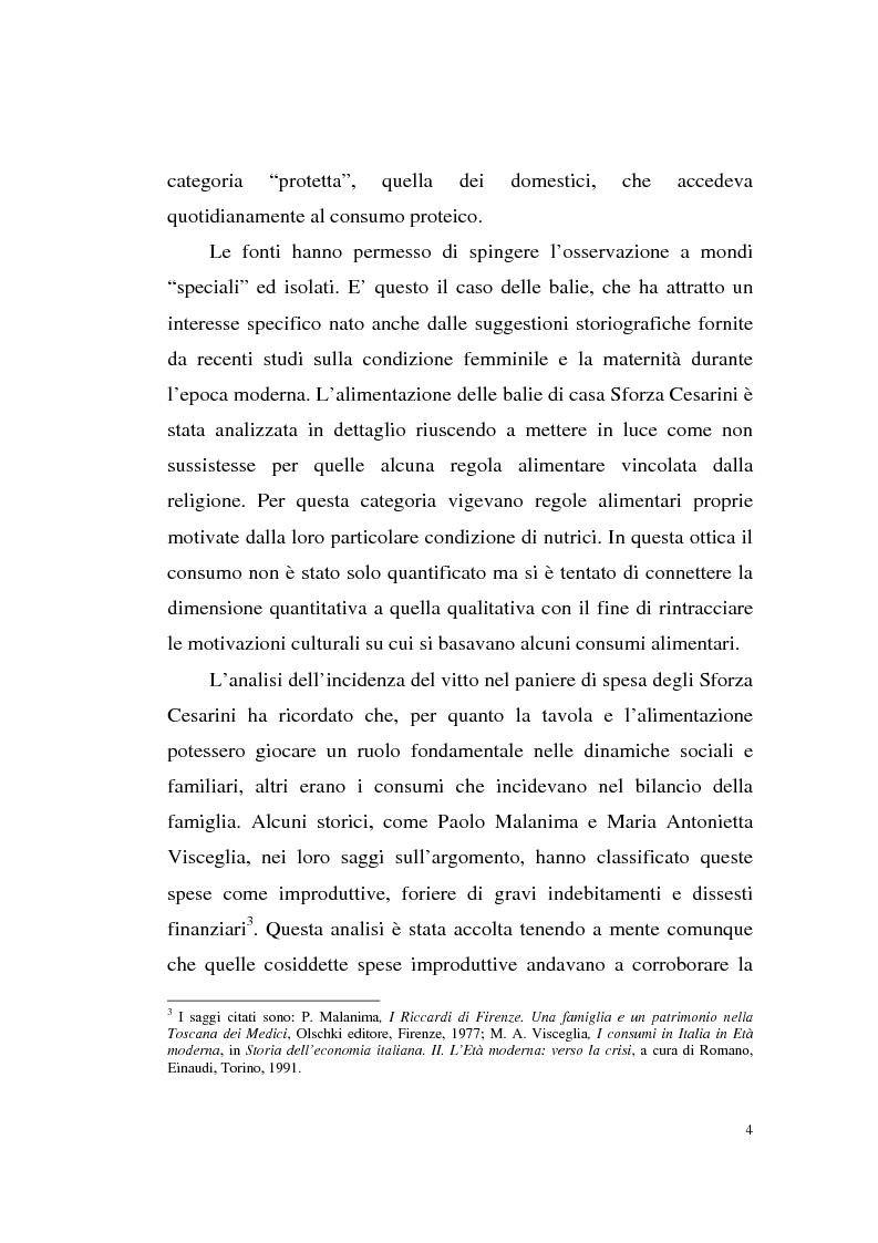 Anteprima della tesi: A tavola e a palazzo: i consumi degli Sforza Cesarini nel Settecento, Pagina 4