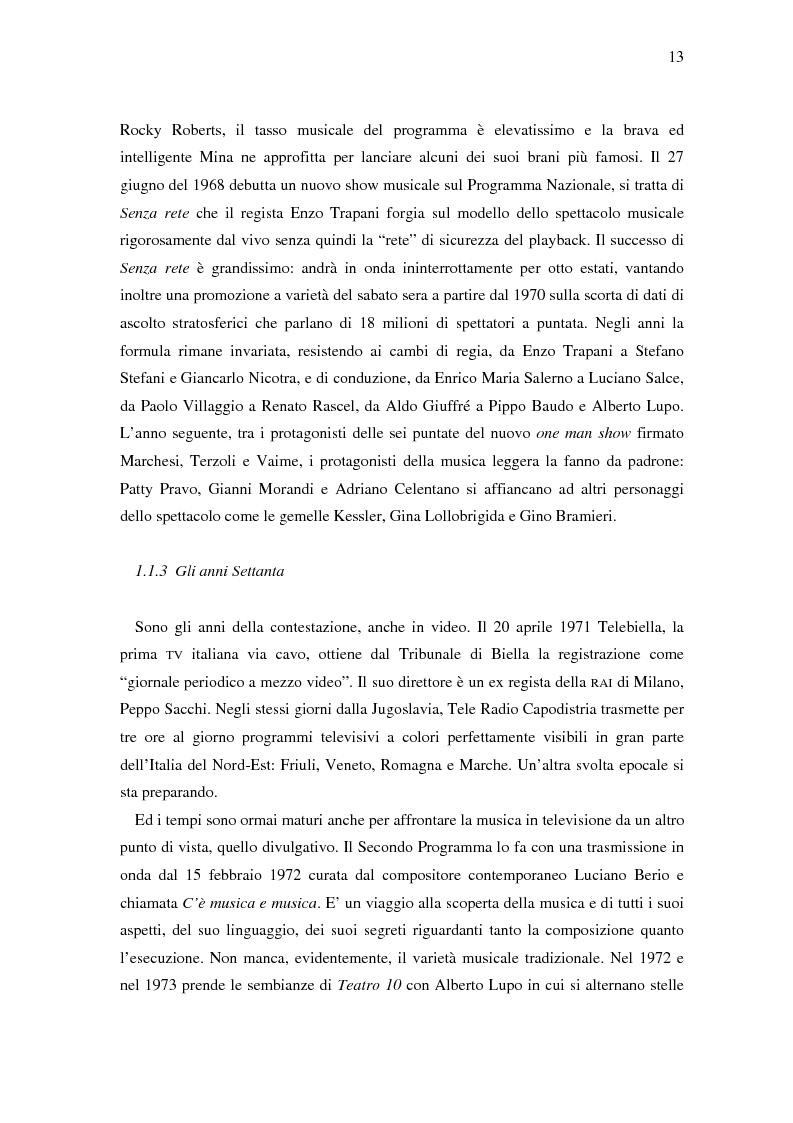 Anteprima della tesi: Il ruolo della televisione nella produzione e diffusione di musica in Italia, Pagina 13