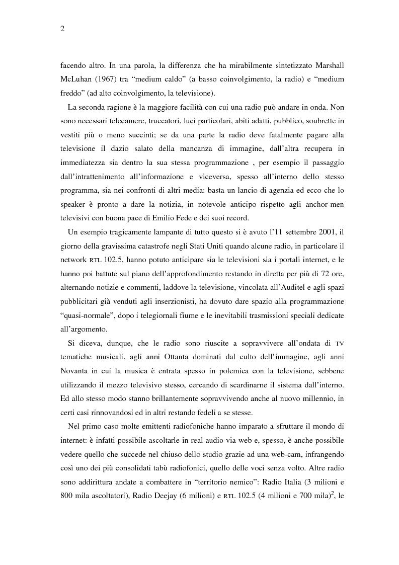 Anteprima della tesi: Il ruolo della televisione nella produzione e diffusione di musica in Italia, Pagina 2