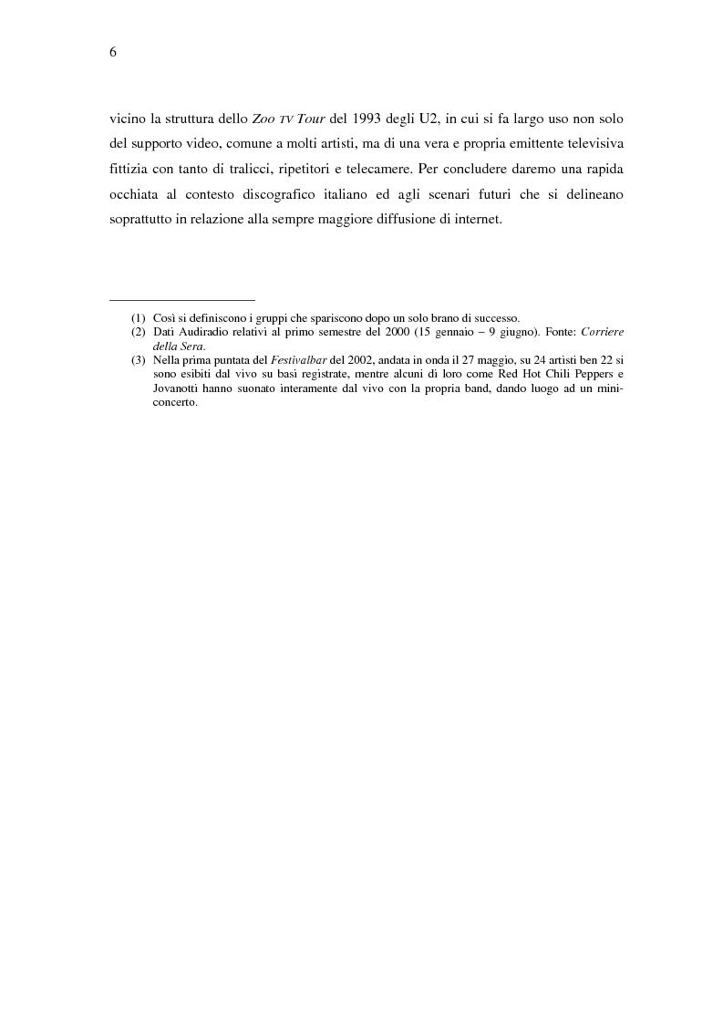 Anteprima della tesi: Il ruolo della televisione nella produzione e diffusione di musica in Italia, Pagina 6