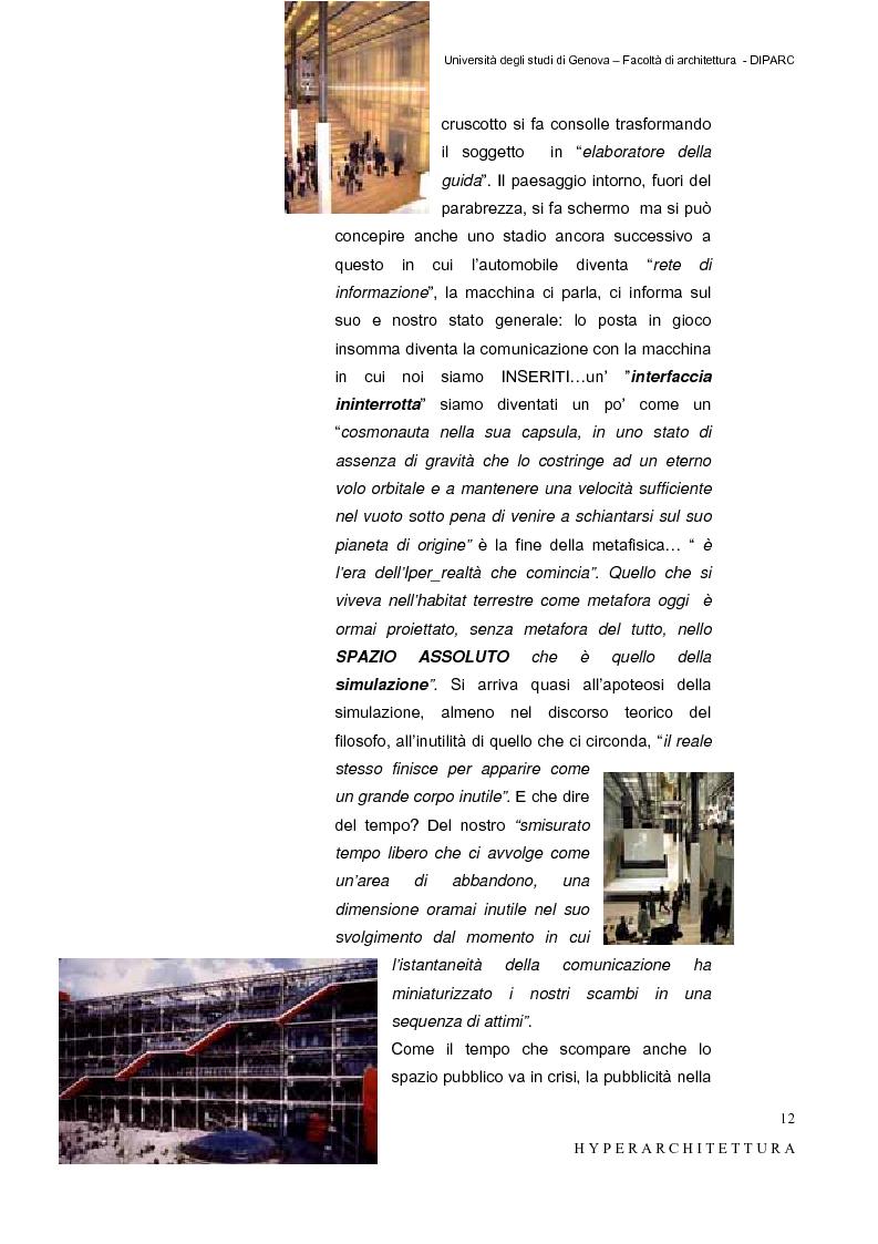 Anteprima della tesi: Hyper_Architettura - Spazi nell'età dell'elettronica e dell'informazione. Sovrapposizioni, intrecci, contaminazioni tra reale e virtuale. Un iperpaesaggio alla Fiera di Genova, Pagina 12